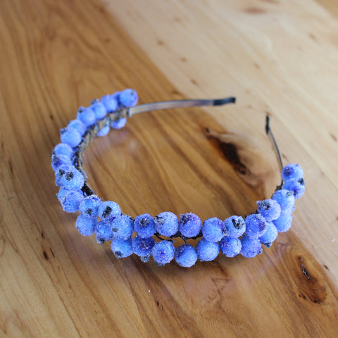 Blue berries headband
