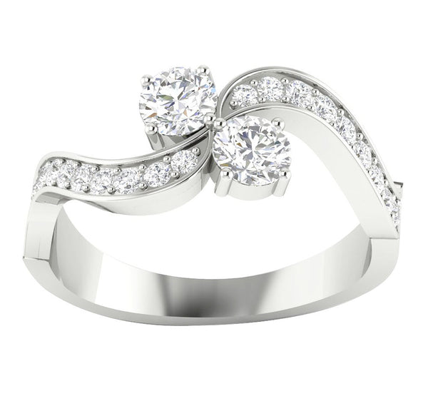 engagement row twist rollover gold ct own in your wedding pave tw ring setmain rings double real build white diamond
