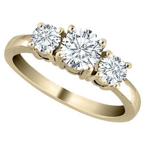 Diamond Solitaire Engagement Ring I1 H 1.01ct Genuine Diamond 14kt Solid Gold Prong Set Fine Rings