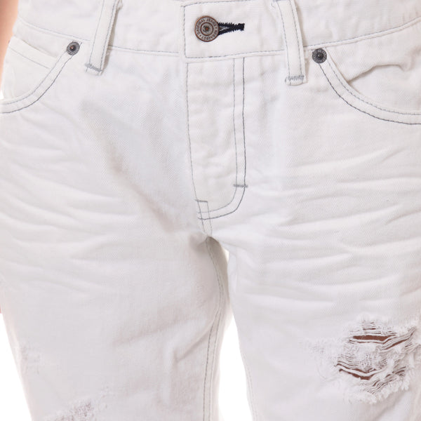 Solid Tapered Hard Crush White