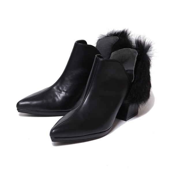 Back Fur Shoes