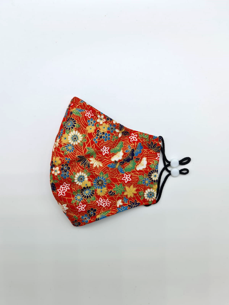 Japanese-Inspired Fabric Reusable Face Mask