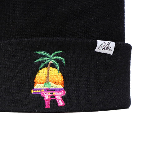 Summertime Shootout Beanie in Black