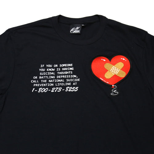 1-800-273-8255 Shirt in Black