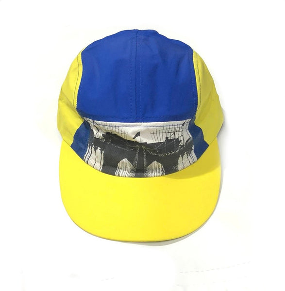Bklyn Bridge Cycle Camp Cap in Yellow