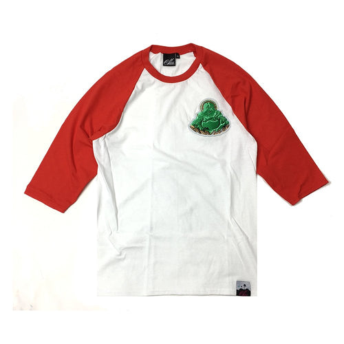 Buddha Patch Baseball Shirt in Red