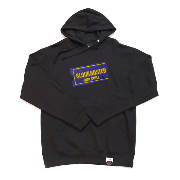 BLOCKBUSTER HOODY IN BLACK