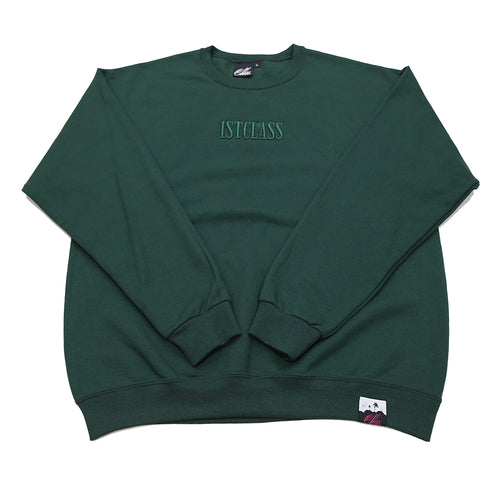 Capitol logo sweater in forest green