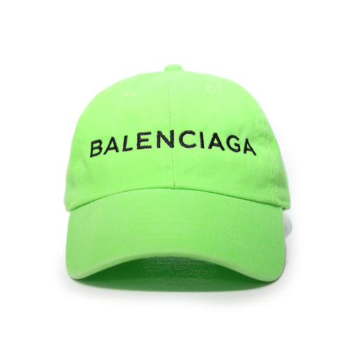 Balenciaga Cap in Neon Green