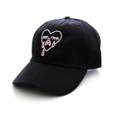 Heart Attacked dad cap in Black