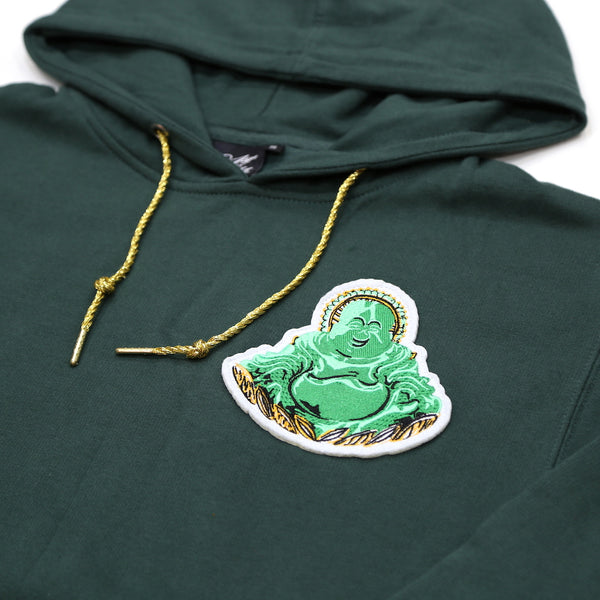 Buddha Patch Hoody in Forest Green