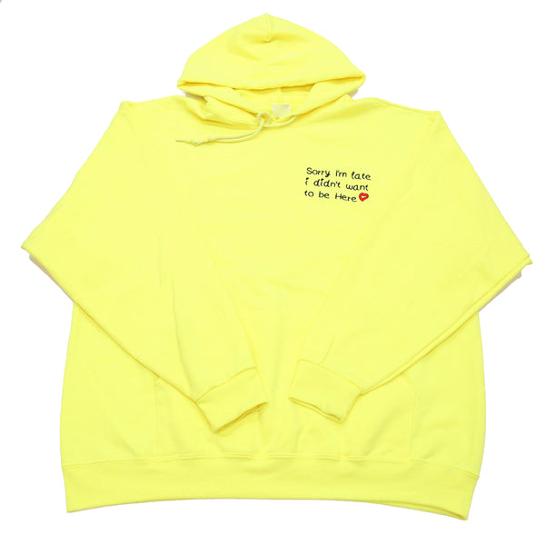 SORRY I'M LATE HOODY IN YELLOW