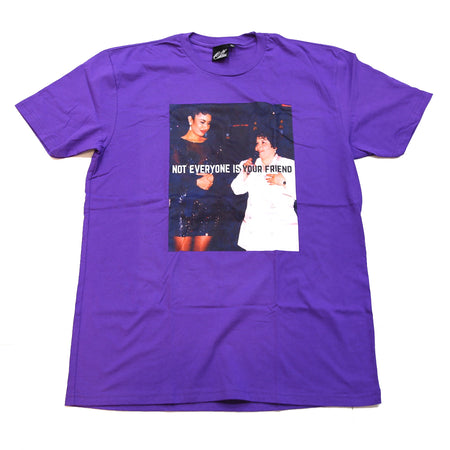 Don't be a menace tee in royal blue