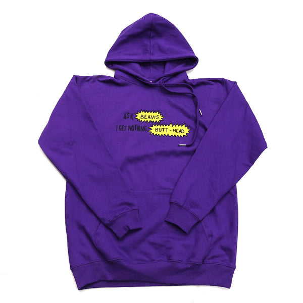 Butt-Head Hoody in Purple
