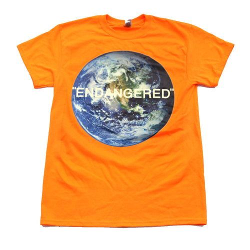 "Endangered Tee in Orange - Collaboration wit ""We Were The Future."""