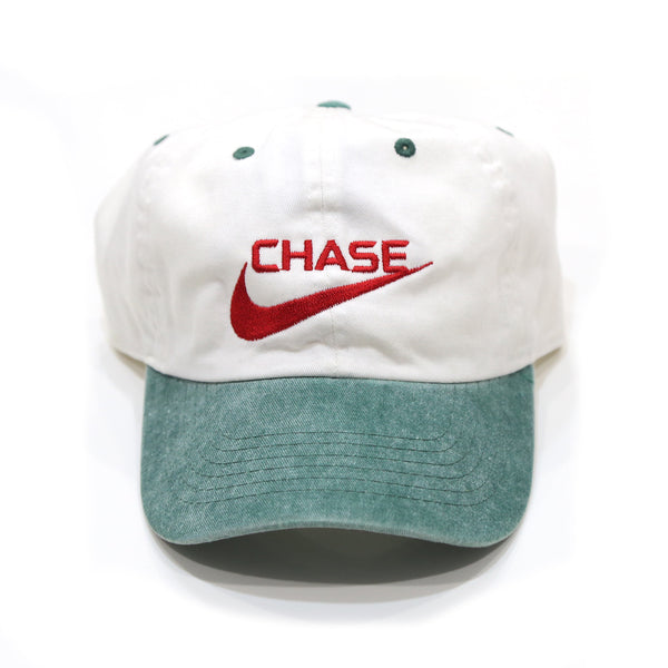 Chase a check Cap in White/Green