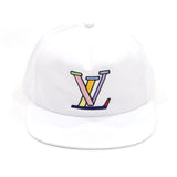 LV Snapback in White