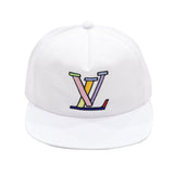 LV Abstract Snapbback in White