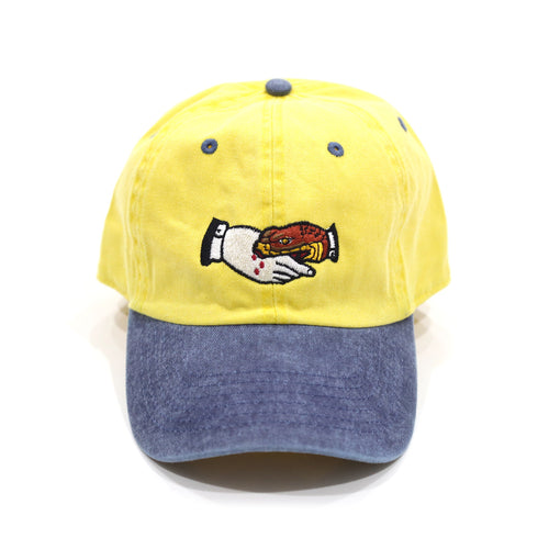 Trust No1 Dad Cap in Yellow/Blue