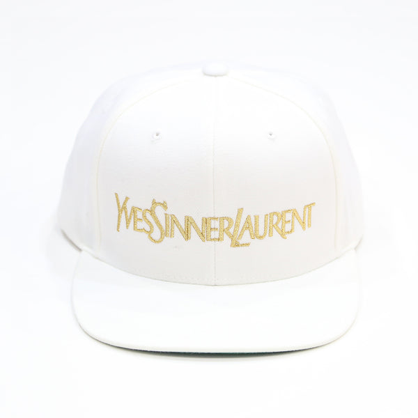 Sinner Snapback in White