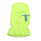 2 Guns up Ski Mask in Neon