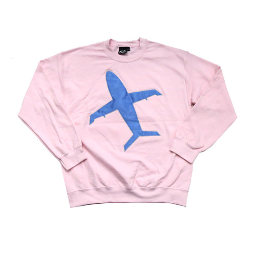 Big Airplane Crewneck sweater in Pink