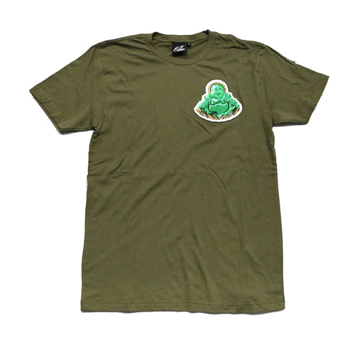 Buddha Patch Tee in Army Green