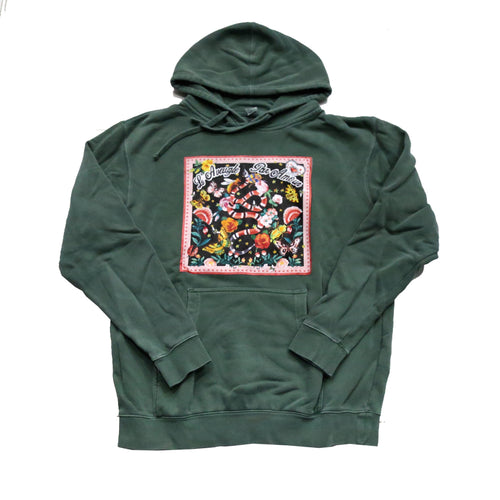 Snake Scarf Hoody in Green