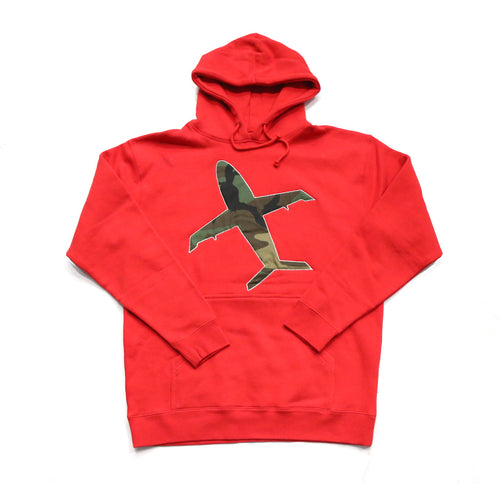 Big Airplane Hoody in Red