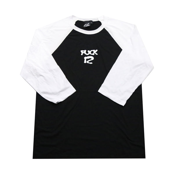 Fuck 12 Baseball Tee in Black