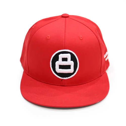 8 Ball Snapback in Red