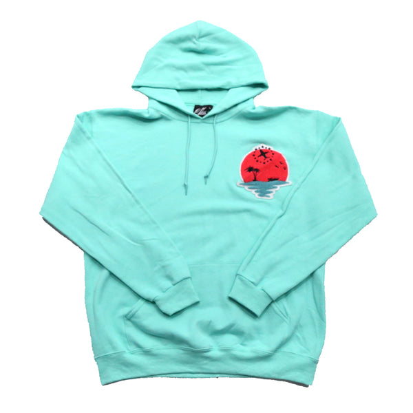 Sunset Life Hoody In Mint