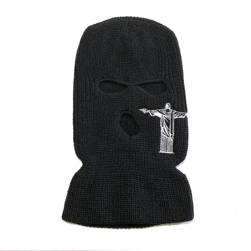 2 Guns up Ski Mask in Black