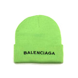 Ballenciaga Beanie in Lime Green