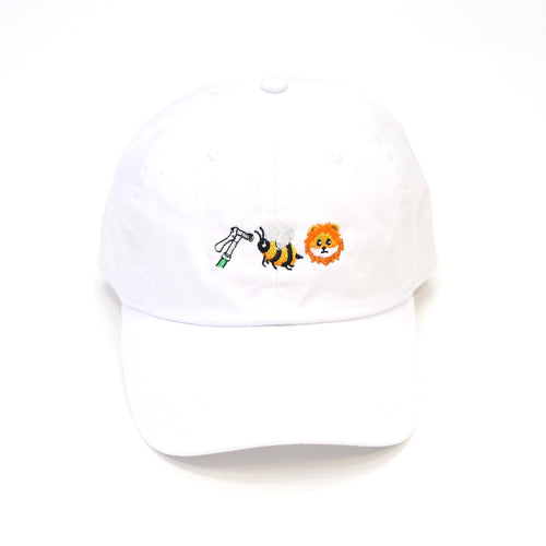 Bee Lion cap in white