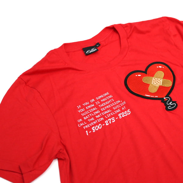 1-800-273-8255 Shirt in Red