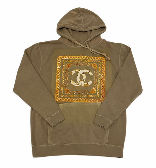 Vintage Chanel Bootleg Hoody in Tan