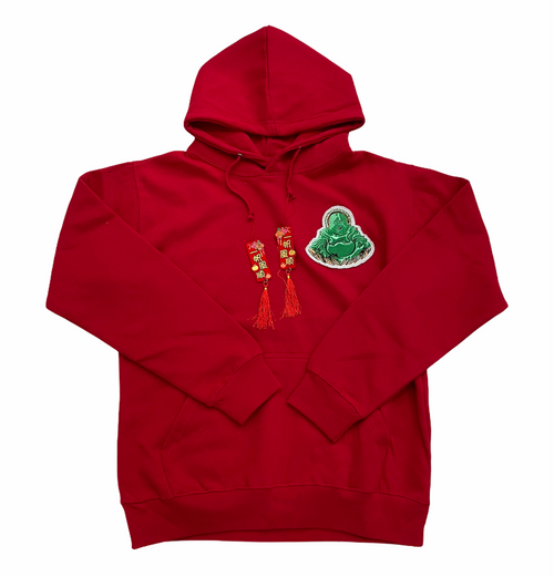 Budda Year of the OX hoody in Red
