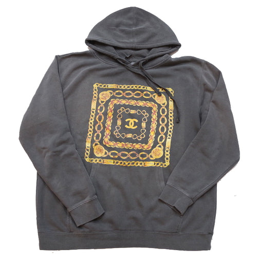Vintage Chanel Bootleg Hoody in Black