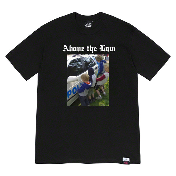 Above the law tee in black