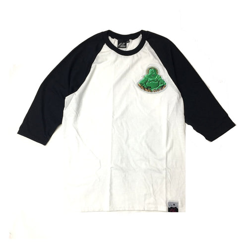 Buddha Patch Baseball Shirt in Black