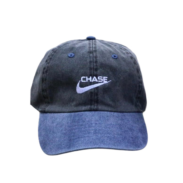 Chase a check Dad Cap in 2 Tone Blue