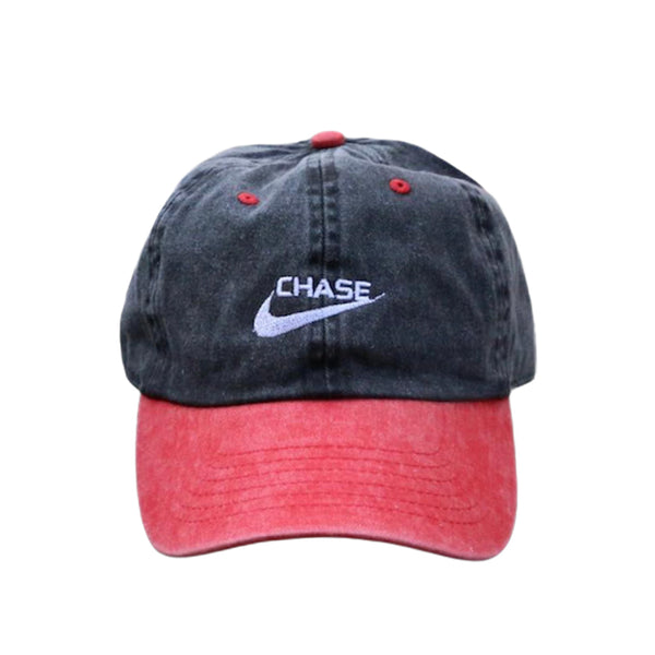 Chase a check Dad Cap in 2 Tone Red
