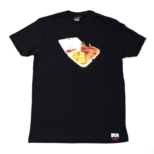 Chinese food Tee in Black