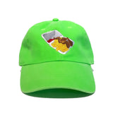 Chicken wings cap in lime green