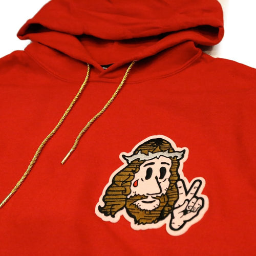 Jesus Peace Hoody in Red