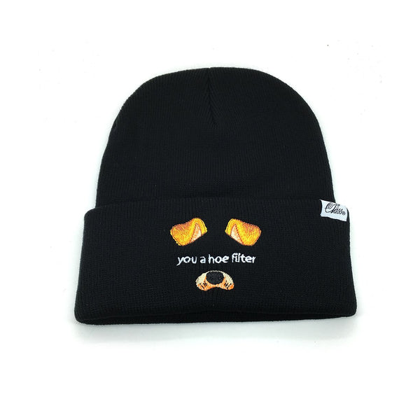Hoe Filter Beanie in Black