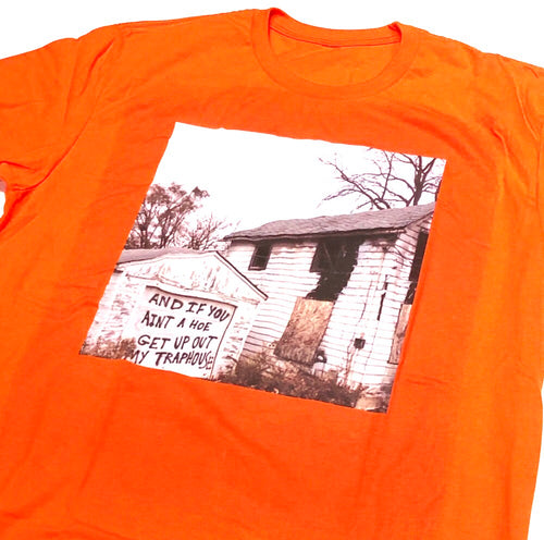 Trap house shirt in orange