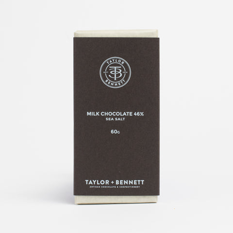 Milk Chocolate 46% - Sea Salt - Taylor + Bennett Ltd