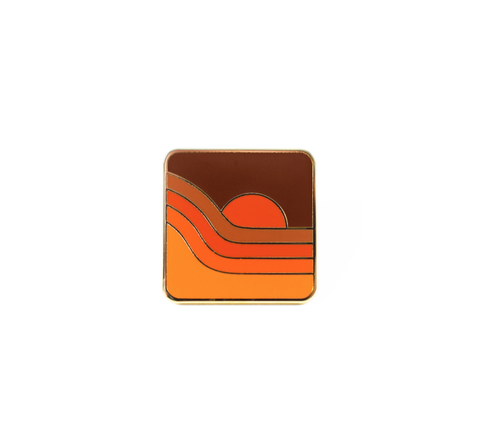 70s SUNSET Pin